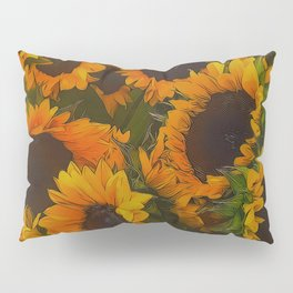 Sunflowers Picked From A Garden Pillow Sham