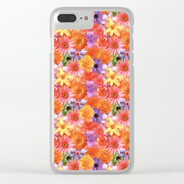 Radiant Tropical Flowers Clear iPhone Case