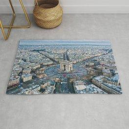 Arc de Triomphe Paris City Rug