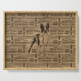 Boston Terrier dog Serving Tray