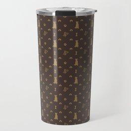 Louis Pitbull Luxury Dog Bling Pattern Travel Mug