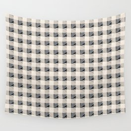 ANTHOLOGY OF PATTERN SEVILLE GINGHAM BLACK Wall Tapestry