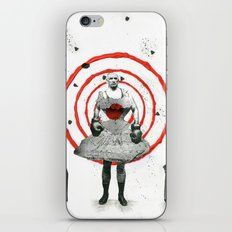 Woman with stones iPhone & iPod Skin