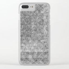 Ink Stitch: Gray Opal Clear iPhone Case