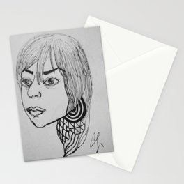 Outside Girl Stationery Cards