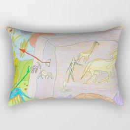 Rock paintings Rectangular Pillow