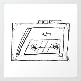 casset player Art Print