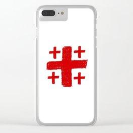 Jerusalem Cross 5 Clear iPhone Case