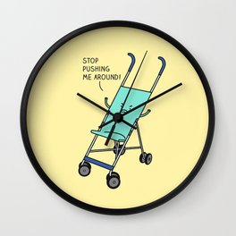 Angry stroller Wall Clock