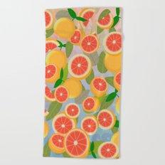 Grapefruit Song Beach Towel