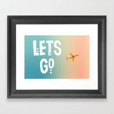 Let's Go (Airplane) Framed Art Print