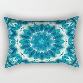 Flower Of Life Mandala (Ocean's Secret) Rectangular Pillow