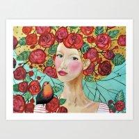 Delphine Art Print