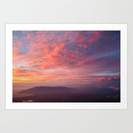 Haleakala Summit Sunset Art Print