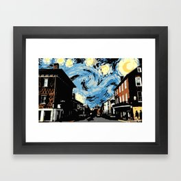 Main Street Lexington Starry Night Framed Art Print