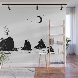 Three Graces Black on white Wall Mural