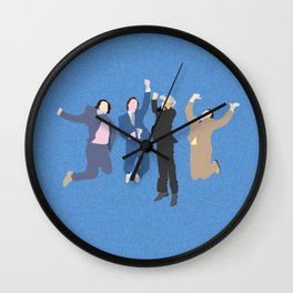 The Channel 4 news team Wall Clock
