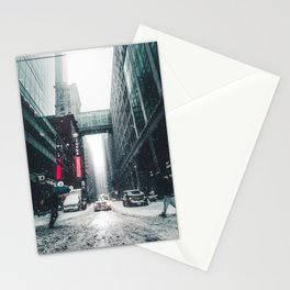 New york under the snow Stationery Cards