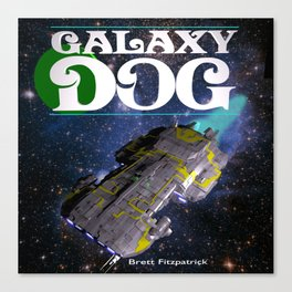 Galaxy Dog Canvas Print