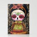 Frida The Catrina - Dia De Los Muertos Painted Skull Mixed Media Art by danitaart