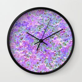 Speckled Pink Wall Clock