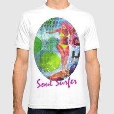 Soul Surfer I White Mens Fitted Tee MEDIUM