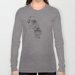 MARCUS AURELIUS ANTONINUS AUGUSTUS / black / white Long Sleeve T-shirt