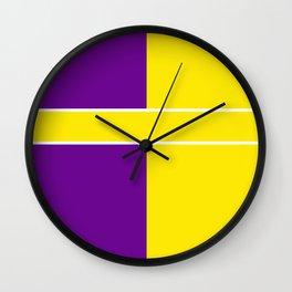 Team Colors 6....Yellow,purple Wall Clock
