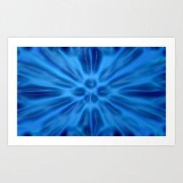 Blue plastification Art Print