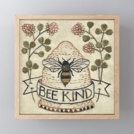 Bee Kind Framed Mini Art Print