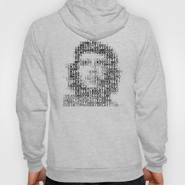 Che Guevara Portrait in Words Hoody
