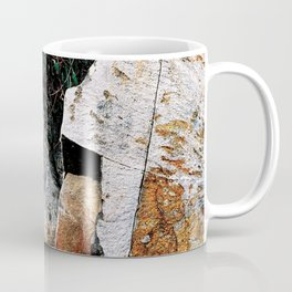 Rock Face Near Windamere Dam Coffee Mug