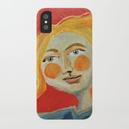 Yellow hair iPhone Case