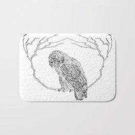 Owl In Tree (Print) Bath Mat