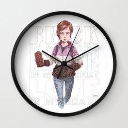 Brick + Knife + Love Wall Clock