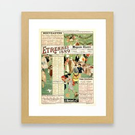 Semeghini Defendi 1889 Vintage French Advertising Framed Art Print