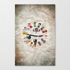 Dancing Circle Deejay Canvas Print