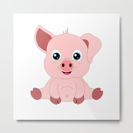 Year of the Pig Piggy Piglet Lover Luck Gift Metal Print