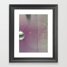 pink silver Framed Art Print