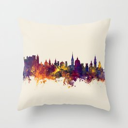 Salzburg Austria Skyline Throw Pillow
