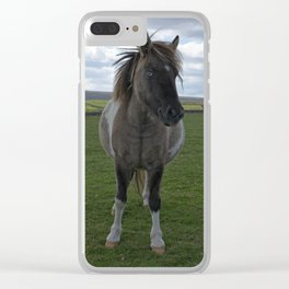 Blue Eyed Dartmoor Pony Clear iPhone Case