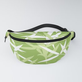 Green Bamboo Leaves Unique Pattern Fanny Pack