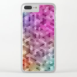 Cool Rainbow Color Mosaic Clear iPhone Case