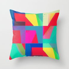 Colorful Truth. Red Throw Pillow