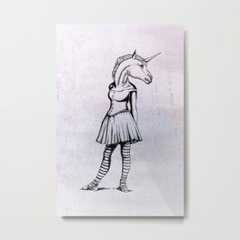 Unicorn Ballerina Metal Print