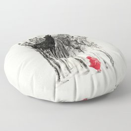 Into The Woods Floor Pillow
