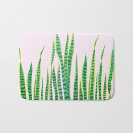 snake plant painting Bath Mat