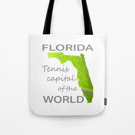 Florida Tennis on white Tote Bag