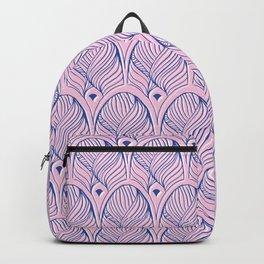 Art-Deco Print - The Gherkin – London, Pink & Blue Backpack