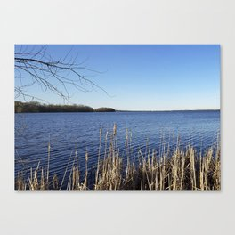 """Incredi-blue"" lake view - Lake Mendota, Madison, WI Canvas Print"